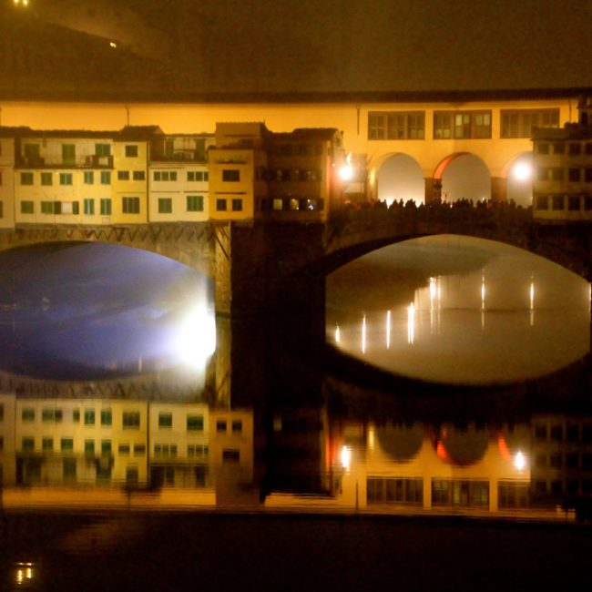 Lights through the Ponte Vecchio