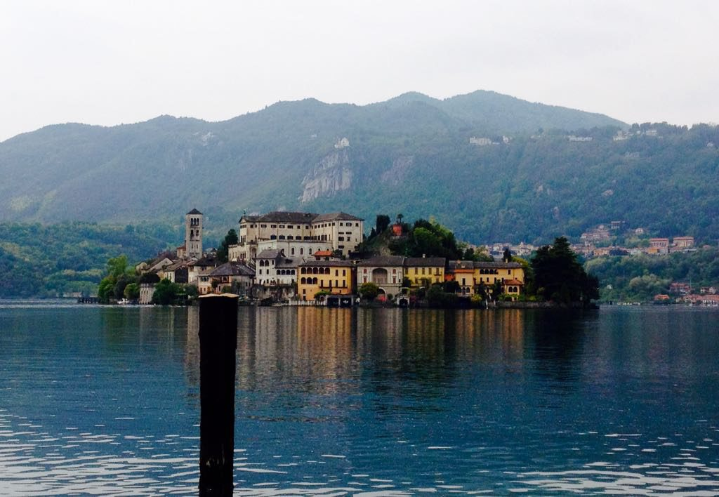 Looking across Lake Orta