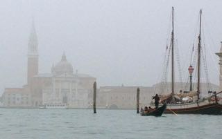 Venice winter gondola